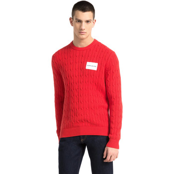 vaatteet Miehet Neulepusero Calvin Klein Jeans J30J307800 Punainen