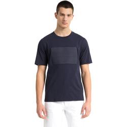 vaatteet Miehet Lyhythihainen t-paita Calvin Klein Jeans J30J307868 Sininen