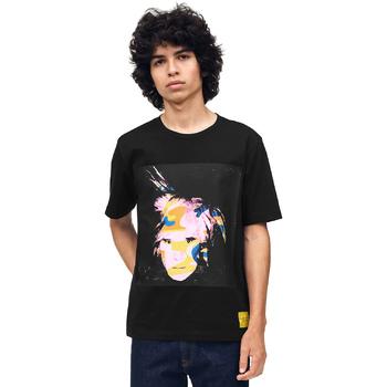 vaatteet Miehet Lyhythihainen t-paita Calvin Klein Jeans J30J310572 Musta