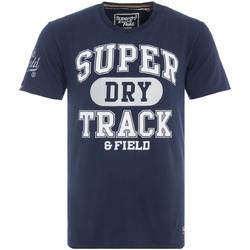 vaatteet Miehet Lyhythihainen t-paita Superdry M10600NR Sininen