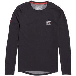 vaatteet Miehet T-paidat pitkillä hihoilla Superdry MS3002RR Musta