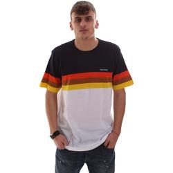 vaatteet Miehet Lyhythihainen t-paita Calvin Klein Jeans K10K104375 Valkoinen