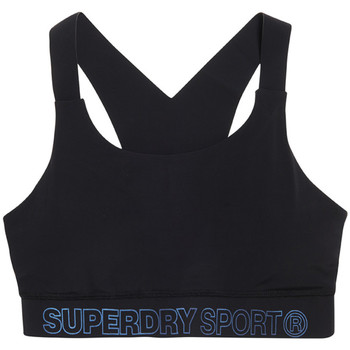 vaatteet Naiset Urheiluliivit Superdry GS3009AR Musta