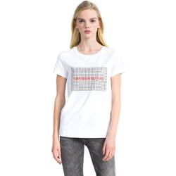 vaatteet Naiset Lyhythihainen t-paita Calvin Klein Jeans J20J207974 Valkoinen
