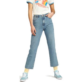 vaatteet Naiset Suorat farkut Wrangler W238GF Sininen