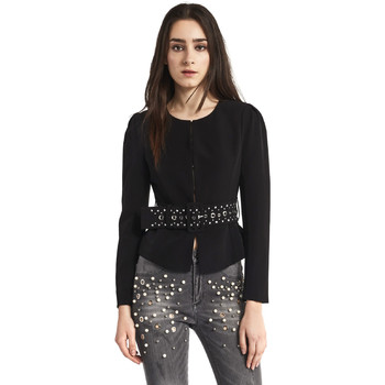 vaatteet Naiset Takit / Bleiserit Gaudi 821FD35004 Musta
