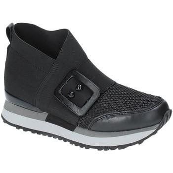 kengät Naiset Korkeavartiset tennarit Apepazza RSD19 Musta