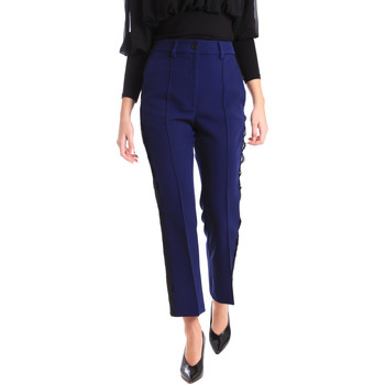 vaatteet Naiset Chino-housut / Porkkanahousut Denny Rose 821DD20001 Sininen