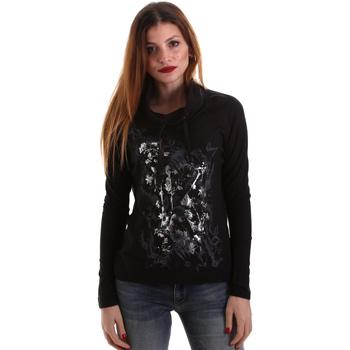 vaatteet Naiset T-paidat pitkillä hihoilla Key Up 5VG84 0001 Musta