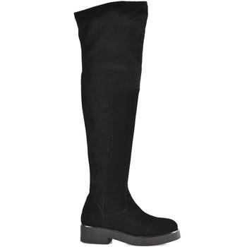 kengät Naiset Ylipolvensaappaat Mally 6311 Musta