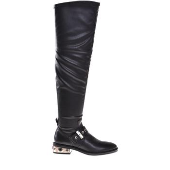 kengät Naiset Saappaat Elvio Zanon I8406P Musta