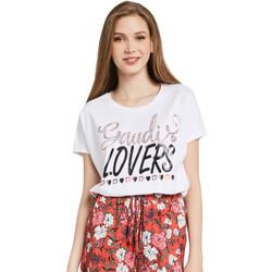 vaatteet Naiset Lyhythihainen t-paita Gaudi 011BD64008 Valkoinen