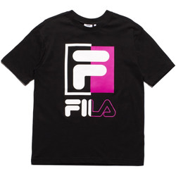 vaatteet Miehet Lyhythihainen t-paita Fila 687475 Musta
