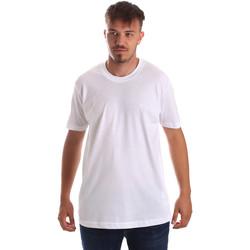 vaatteet Miehet Lyhythihainen t-paita Key Up 2M915 0001 Valkoinen