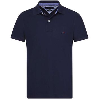 vaatteet Miehet Lyhythihainen poolopaita Tommy Hilfiger MW0MW09741 Sininen