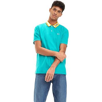 vaatteet Miehet Lyhythihainen poolopaita Tommy Hilfiger DM0DM06022 Sininen