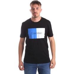 vaatteet Miehet Lyhythihainen t-paita Calvin Klein Jeans K10K103497 Musta