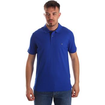 vaatteet Miehet Lyhythihainen poolopaita Calvin Klein Jeans K10K102758 Sininen