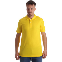 vaatteet Miehet Lyhythihainen poolopaita Calvin Klein Jeans K10K102758 Keltainen