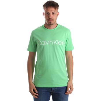 vaatteet Miehet Lyhythihainen t-paita Calvin Klein Jeans K10K103078 Vihreä