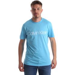 vaatteet Miehet Lyhythihainen t-paita Calvin Klein Jeans K10K103078 Sininen
