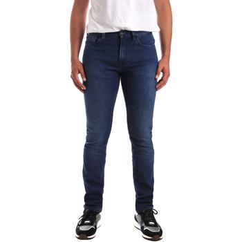 vaatteet Miehet Skinny-farkut Calvin Klein Jeans K10K103319 Sininen