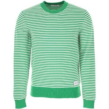 vaatteet Miehet Neulepusero Calvin Klein Jeans K10K103327 Vihreä