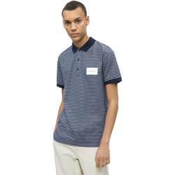 vaatteet Miehet Lyhythihainen poolopaita Calvin Klein Jeans K10K103364 Sininen