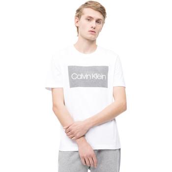 vaatteet Miehet Lyhythihainen t-paita Calvin Klein Jeans K10K103654 Valkoinen