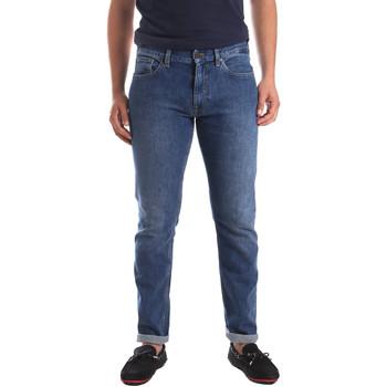 vaatteet Miehet Slim-farkut Calvin Klein Jeans K10K103815 Sininen