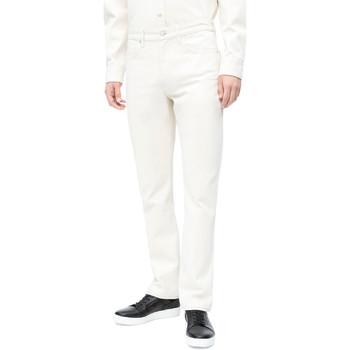 vaatteet Miehet Slim-farkut Calvin Klein Jeans J30J310380 Valkoinen