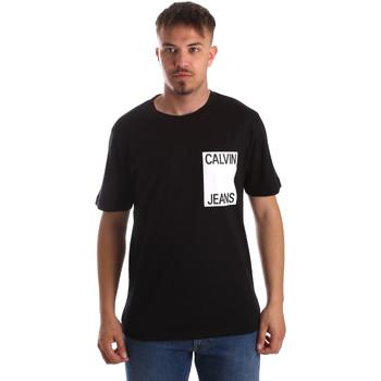 vaatteet Miehet Lyhythihainen t-paita Calvin Klein Jeans J30J311326 Musta