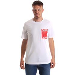 vaatteet Miehet Lyhythihainen t-paita Calvin Klein Jeans J30J311326 Valkoinen