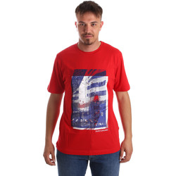vaatteet Miehet Lyhythihainen t-paita Calvin Klein Jeans J30J312285 Punainen