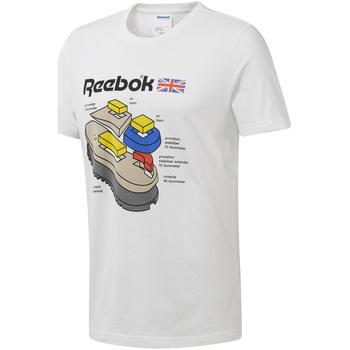 vaatteet Miehet Lyhythihainen t-paita Reebok Sport DT8122 Valkoinen