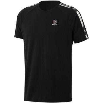 vaatteet Miehet Lyhythihainen t-paita Reebok Sport DT8147 Musta