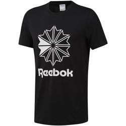 vaatteet Miehet Lyhythihainen t-paita Reebok Sport DT8171 Musta