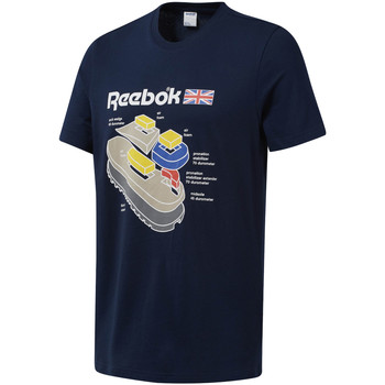vaatteet Miehet Lyhythihainen t-paita Reebok Sport DT9445 Sininen