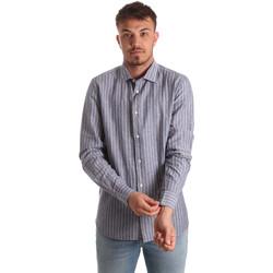 vaatteet Miehet Pitkähihainen paitapusero Antony Morato MMSL00520 FA420069 Sininen