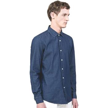 vaatteet Miehet Pitkähihainen paitapusero Antony Morato MMSL00520 FA440019 Sininen