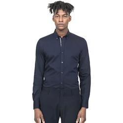 vaatteet Miehet Pitkähihainen paitapusero Antony Morato MMSL00523 FA450001 Sininen