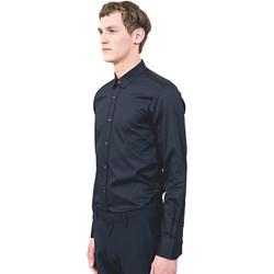 vaatteet Miehet Pitkähihainen paitapusero Antony Morato MMSL00525 FA440012 Sininen