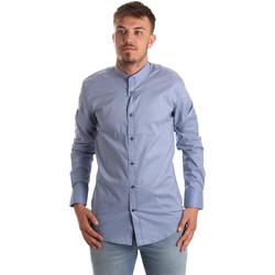 vaatteet Miehet Pitkähihainen paitapusero Antony Morato MMSL00526 FA430086 Sininen