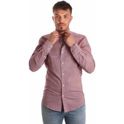 vaatteet Miehet Pitkähihainen paitapusero Antony Morato MMSL00526 FA430360 Punainen