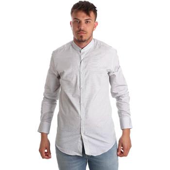 vaatteet Miehet Pitkähihainen paitapusero Antony Morato MMSL00526 FA440024 Valkoinen