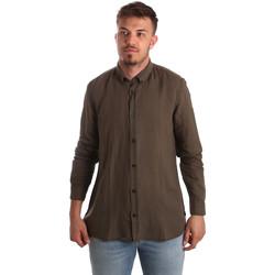 vaatteet Miehet Pitkähihainen paitapusero Antony Morato MMSL00530 FA400051 Ruskea