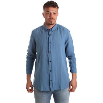 vaatteet Miehet Pitkähihainen paitapusero Antony Morato MMSL00530 FA400051 Sininen