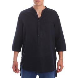vaatteet Miehet Pitkähihainen paitapusero Antony Morato MMSL00531 FA400051 Sininen