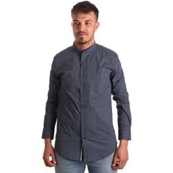 vaatteet Miehet Pitkähihainen paitapusero Antony Morato MMSL00532 FA430370 Sininen