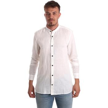 vaatteet Miehet Pitkähihainen paitapusero Antony Morato MMSL00547 FA400051 Valkoinen